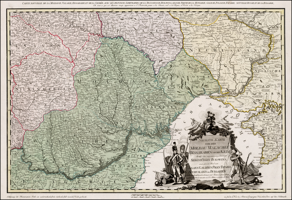 14-Poland, Ukraine, Hungary, Romania and Balkans Map By H. C. Schmitz / Franz Muller