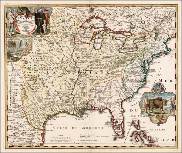 11-United States, South, Southeast, Texas, Midwest, Plains and Southwest Map By Johann Baptist Hom