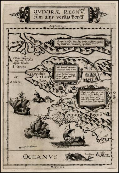 65-Polar Maps, Alaska, Canada, Pacific and California Map By Cornelis de Jode