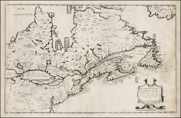 46-New England, Mid-Atlantic, Midwest and Canada Map By Jean Boisseau