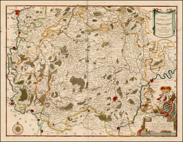 70-Luxembourg Map By Nicolas de Fer
