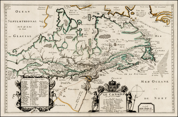 89-New England, Mid-Atlantic, Midwest and Canada Map By Pierre Du Val
