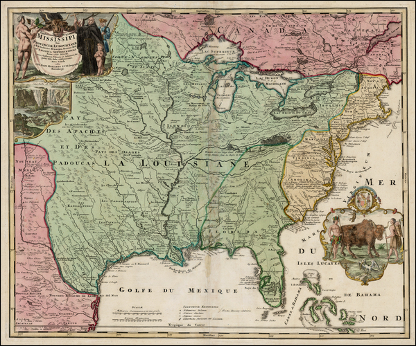 77-United States, South, Southeast, Texas, Midwest, Plains and Southwest Map By Johann Baptist Hom