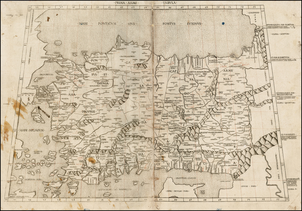 20-Balearic Islands, Cyprus and Turkey & Asia Minor Map By Claudius Ptolemy