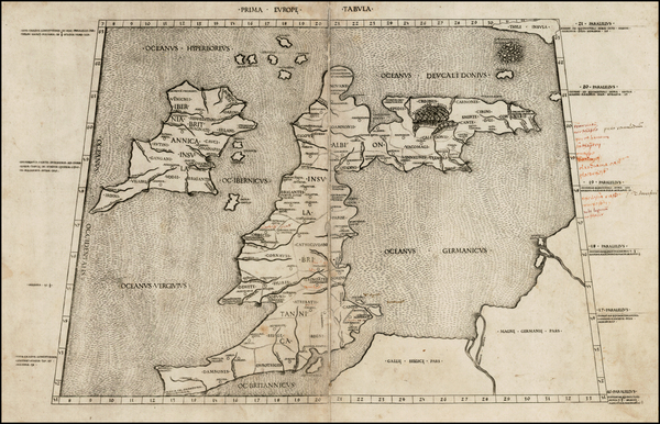 31-British Isles Map By Claudius Ptolemy