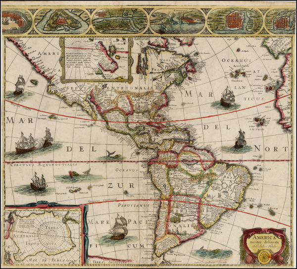 87-South America and America Map By Jan Jansson