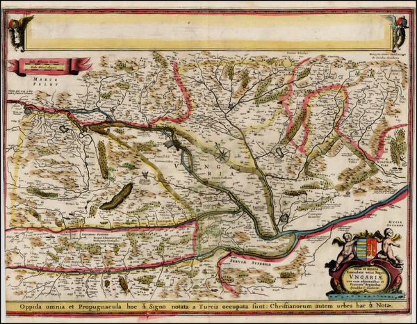 50-Hungary Map By Cornelis II Danckerts