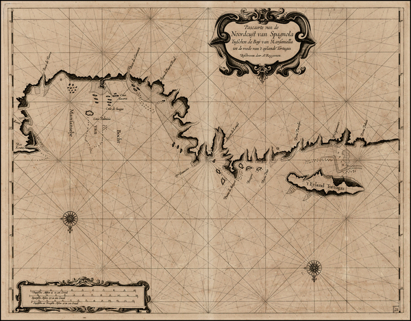 Hispaniola Map By Arent Roggeveen