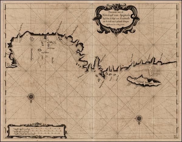 Hispaniola Map By Arent Roggeveen