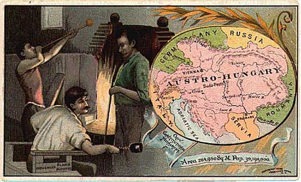 28-Europe, Austria and Hungary Map By Arbuckle Brothers Coffee Co.