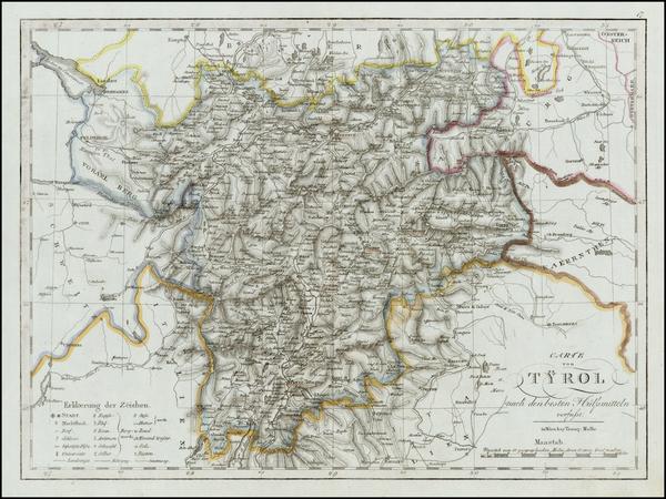 81-Austria and Italy Map By Tranquillo Mollo