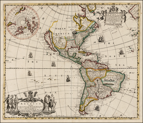 89-United States, North America, South America and America Map By Philip Lea  &  John Overton