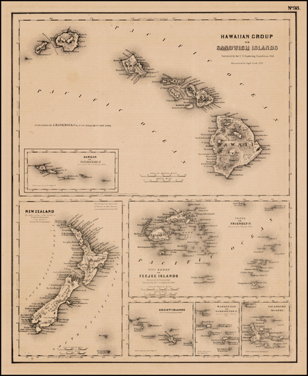79-Hawaii, Hawaii and Other Pacific Islands Map By Joseph Hutchins Colton