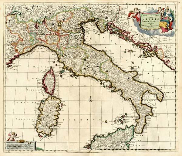 81-Europe and Italy Map By Theodorus I Danckerts