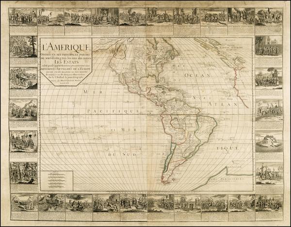 11-Western Hemisphere, South America and America Map By Gaspar Baillieul