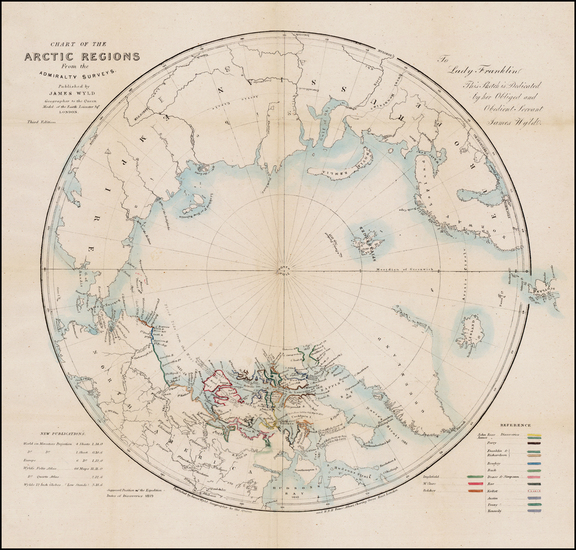 7-Polar Maps, Alaska, Canada, Russia, Scandinavia and Russia in Asia Map By James Wyld