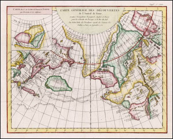 95-Alaska, Canada and Russia in Asia Map By Denis Diderot / Didier Robert de Vaugondy