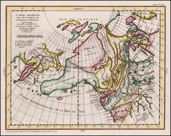 41-Polar Maps, Alaska, Canada and Russia in Asia Map By Denis Diderot / Gilles Robert de Vaugondy