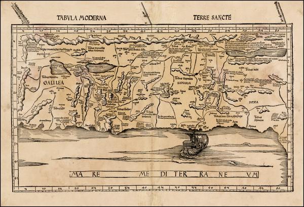4-Holy Land Map By Martin Waldseemüller