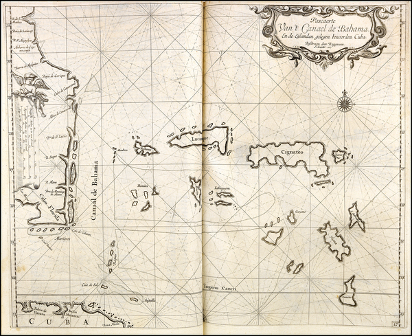 36-Florida, Southeast and Caribbean Map By Arent Roggeveen / Johannes Loots