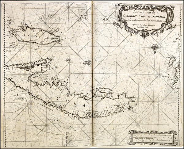 92-Cuba and Jamaica Map By Arent Roggeveen / Johannes Loots