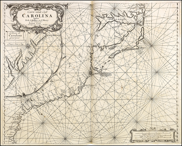 24-Southeast, North Carolina and South Carolina Map By Jacobus Robijn