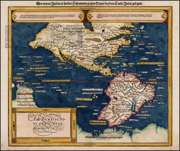 72-Western Hemisphere, South America and America Map By Sebastian Munster