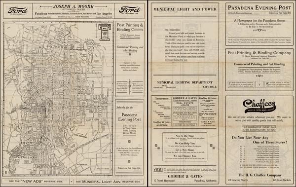 62-California Map By Albert G. Thurston