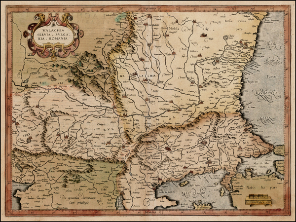 45-Romania and Balkans Map By Gerard Mercator