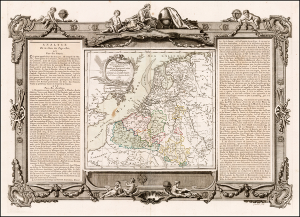 52-Netherlands Map By Louis Brion de la Tour