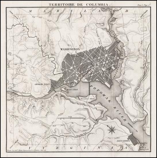 92-Mid-Atlantic, Washington, D.C. and Southeast Map By Pierre Antoine Tardieu