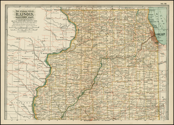 95-Midwest Map By The Century Company