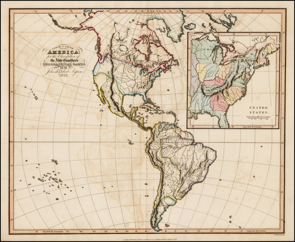 68-United States, North America, South America and America Map By Jehoshaphat Aspin