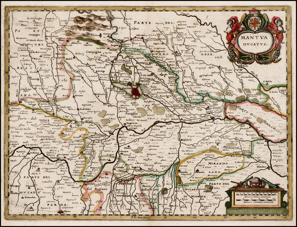 33-Northern Italy Map By Matthaus Merian