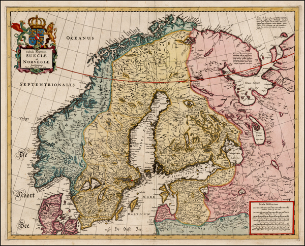 62-Baltic Countries and Scandinavia Map By Hugo Allard