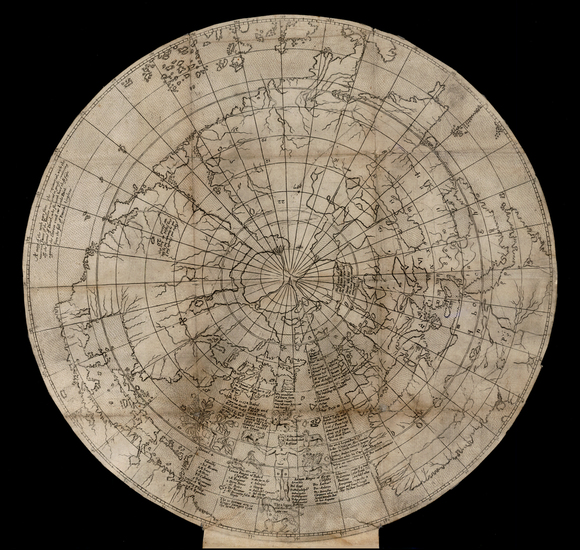 97-World, World, Northern Hemisphere, Polar Maps, North America, South America and America Map By