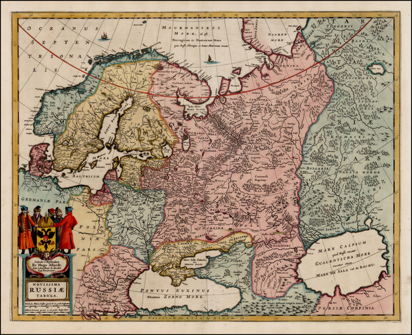 32-Europe, Russia, Baltic Countries and Scandinavia Map By Hugo Allard