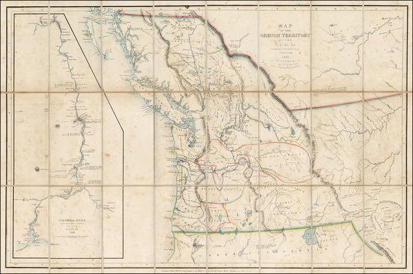 Rocky Mountains, Montana, Wyoming, Pacific Northwest, Washington, Canada and California Map By James Wyld / Charles Wilkes