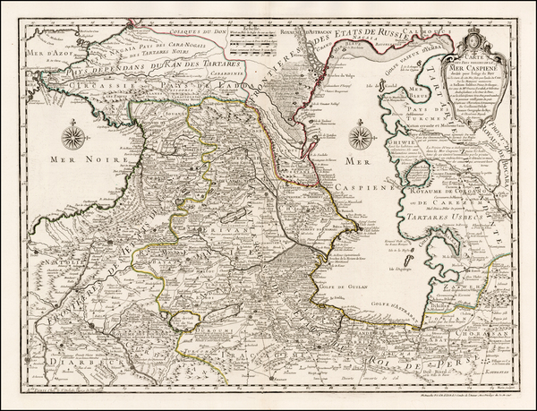 27-Ukraine, Middle East and Russia in Asia Map By Guillaume De L'Isle / Philippe Buache