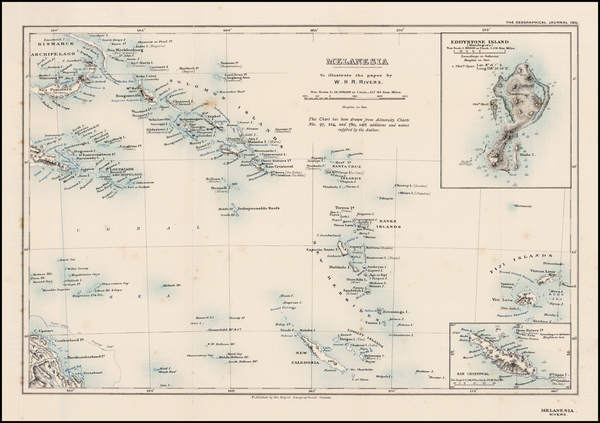 50-Australia & Oceania, Oceania and Other Pacific Islands Map By Royal Geographical Journal