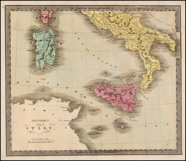 46-Italy and Balearic Islands Map By Jeremiah Greenleaf