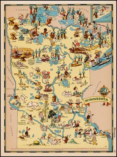 26-Midwest Map By Ruth Taylor White