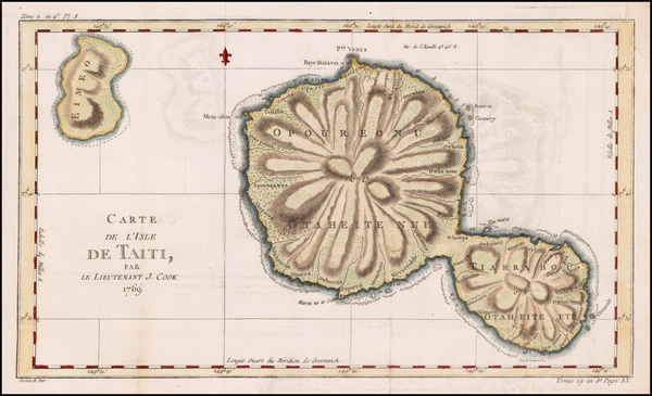 16-Other Pacific Islands Map By Jacques Nicolas Bellin / James Cook
