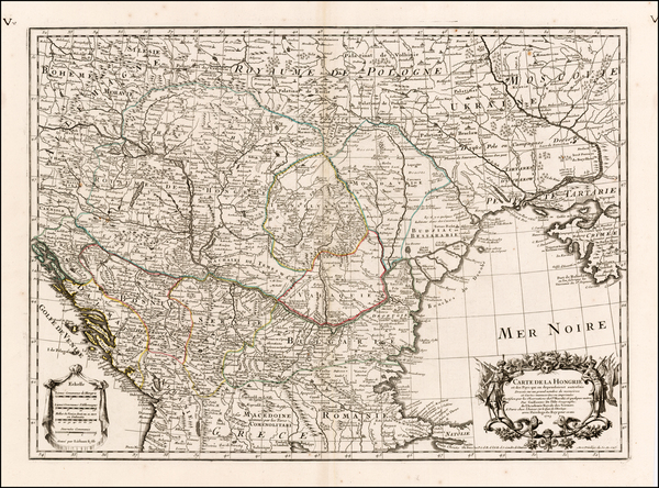 47-Russia, Ukraine, Hungary and Balkans Map By Guillaume De L'Isle / Philippe Buache
