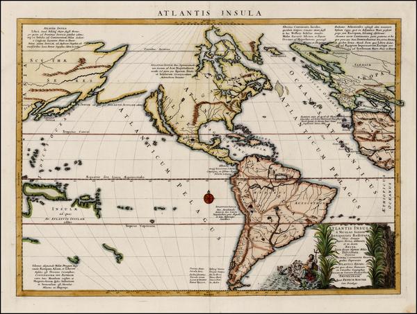 22-Atlantic Ocean, South America, Australia & Oceania, Pacific, Oceania and America Map By Nic