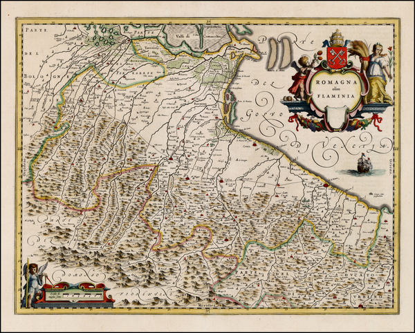 19-Italy Map By Willem Janszoon Blaeu