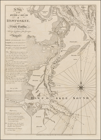 98-South Carolina and American Revolution Map By Robert Sayer  &  John Bennett