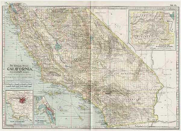69-California Map By The Century Company