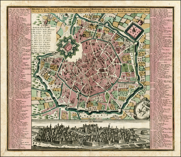 71-Italy, Northern Italy and Other Italian Cities Map By Matthaus Seutter