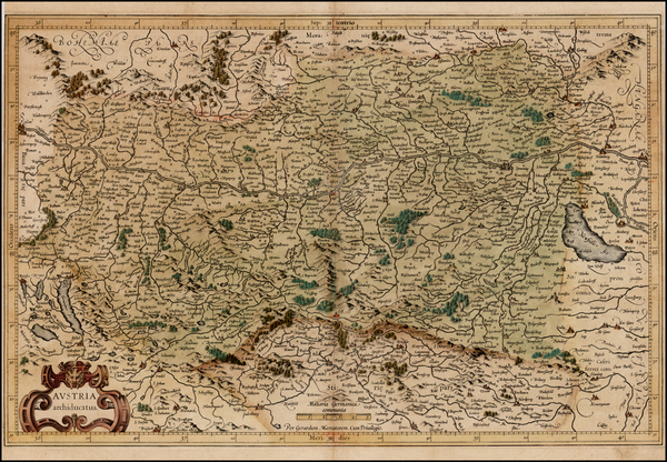 87-Austria Map By  Gerard Mercator
